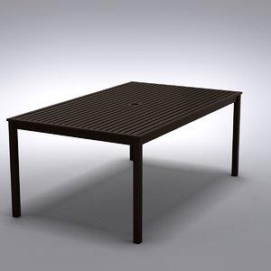 restoration hardware - dining table 3d model