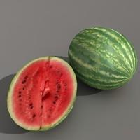 watermelon melon c4d