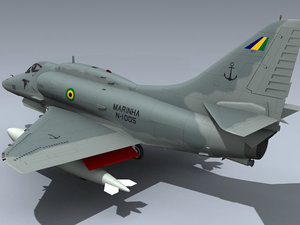 3d model skyhawk eagles