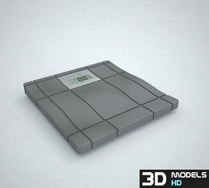 3d bathroom scale-1 scaled model