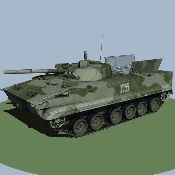 light tank bmp3 3d model