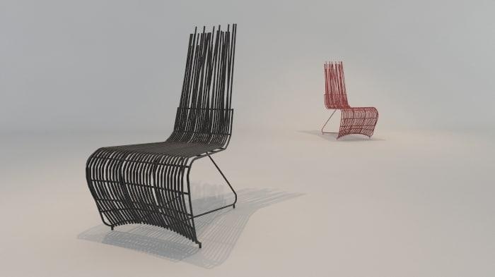 3ds designer chair