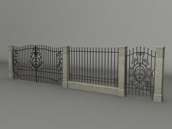 3dsmax fence gates