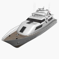 Yacht Medium Low Poly