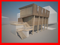 architecture house home 3d model