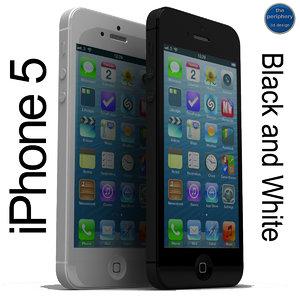3d max apple iphone 5 black