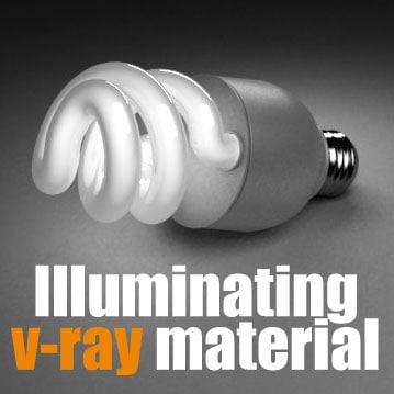 3d lamp illuminating model