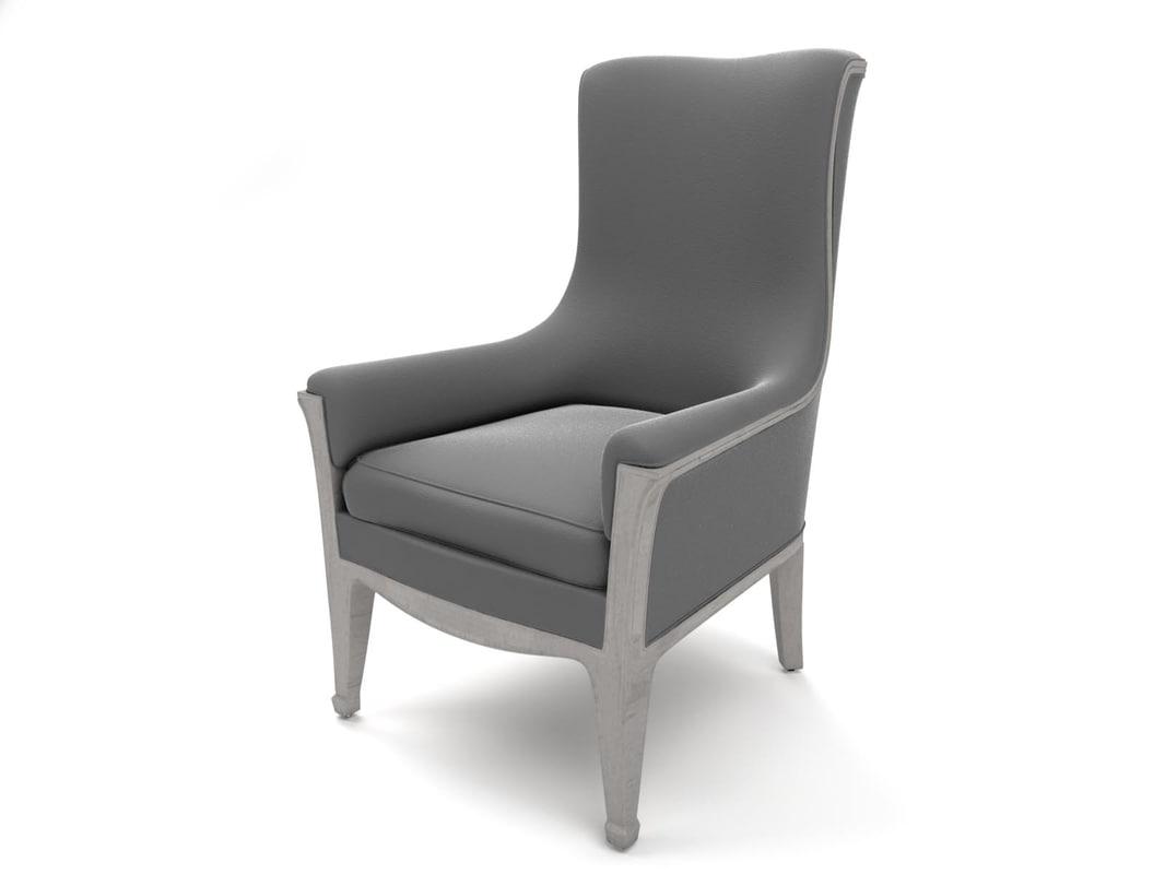 3d louis majorelle lounge chair