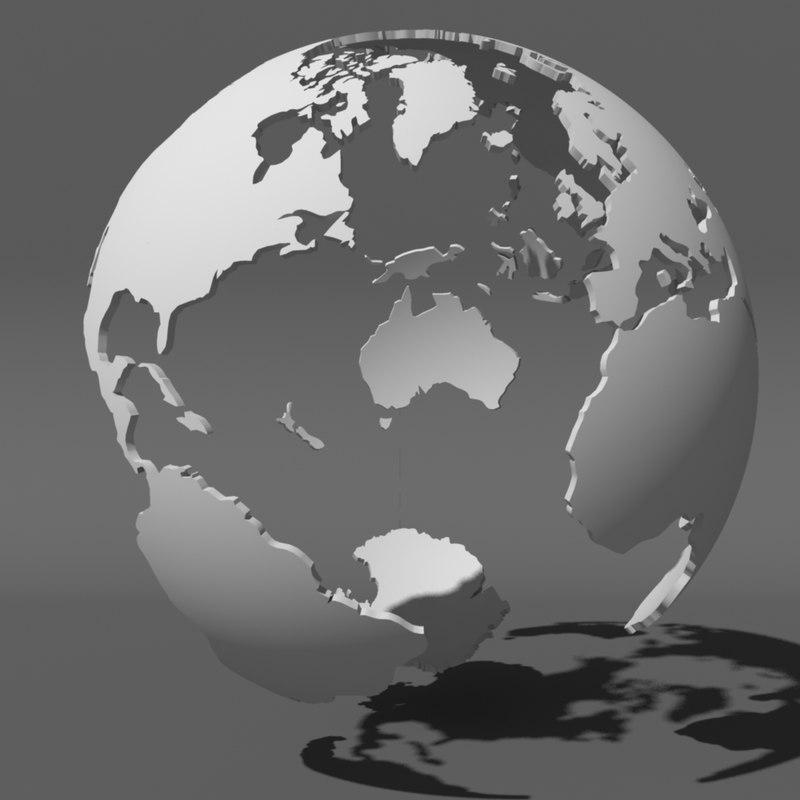 3d globe stylized