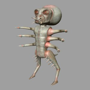 3d model creature character monster