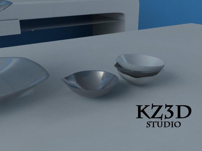 small serving bowl 3d model