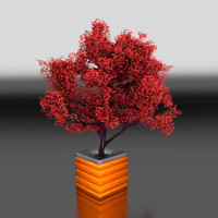 3d modelled tree pot