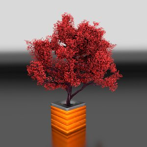 3d modelled tree pot