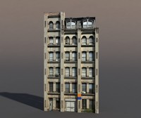 Apartment House #72 Low Poly 3d Model