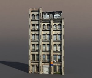 3d building exterior modeled model