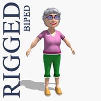 gran grandma 3d max