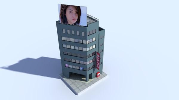 3d building japan model