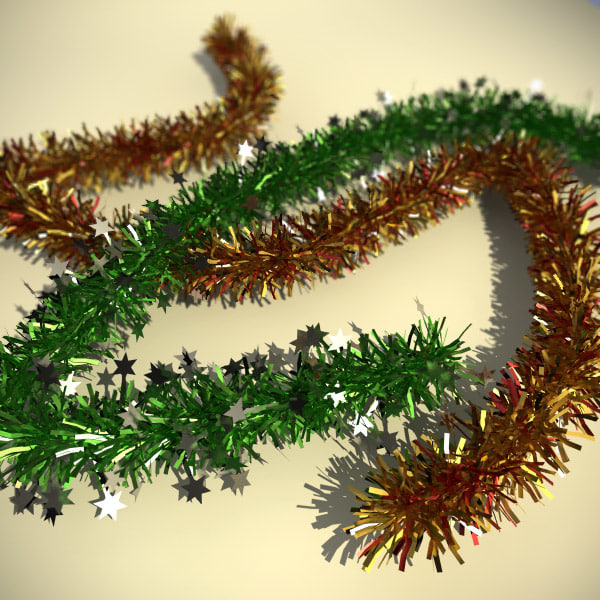 3d model of christmas tinsel