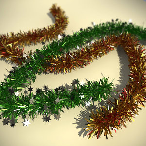 3d model of christmas tinsel