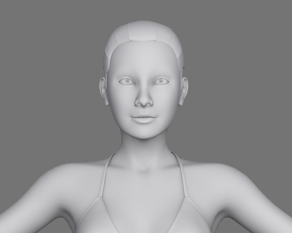 3d jennifer realistic female model