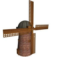 3d dutch windmill model