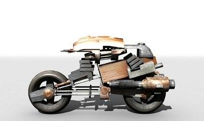 3d model bike robot