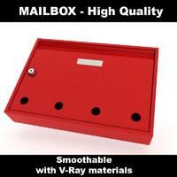 Mail box vray materials