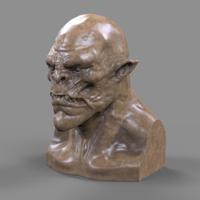 3d model orc head printing