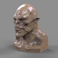 Orc Head 3D Print