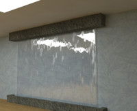 3d decorative waterfall wall