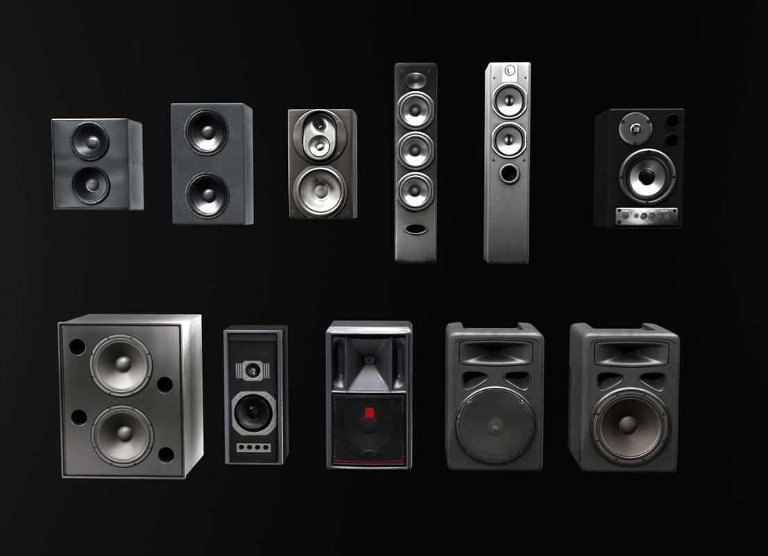 3ds max speaker loudspeaker