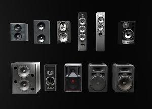 3d model speaker loudspeaker