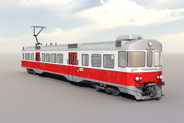 3d model finnish commuter train