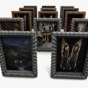 3d creepy frame paint model