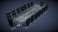 c4d glass conference table