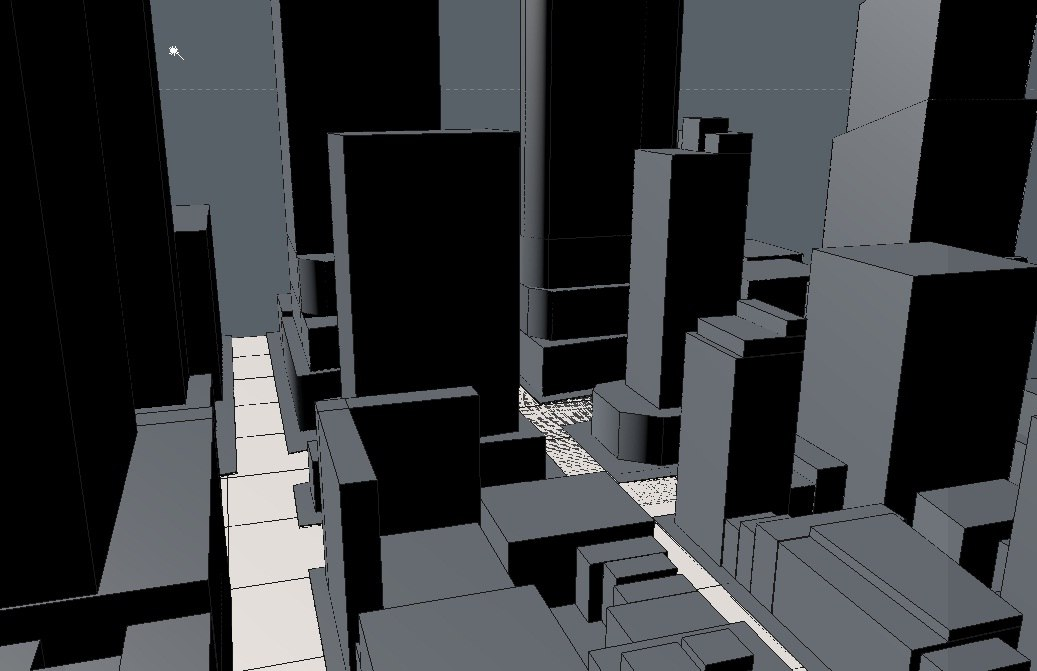 square city cityscape 3d model