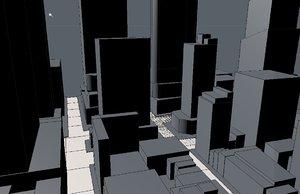 square city cityscape 3d model
