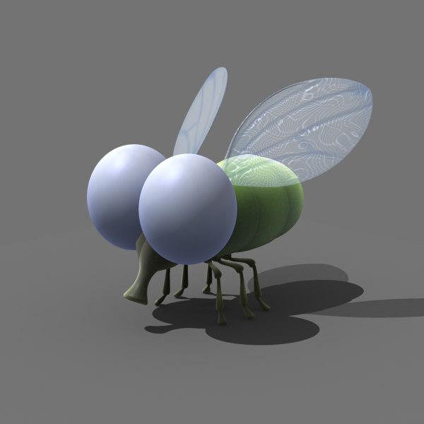 3d cartoon fly