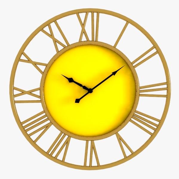 roman wall clock 3d model