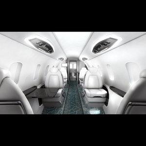 bombardier learjet 85 interior 3d max