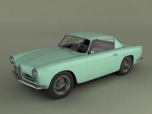 3d alfa romeo 1900 css model