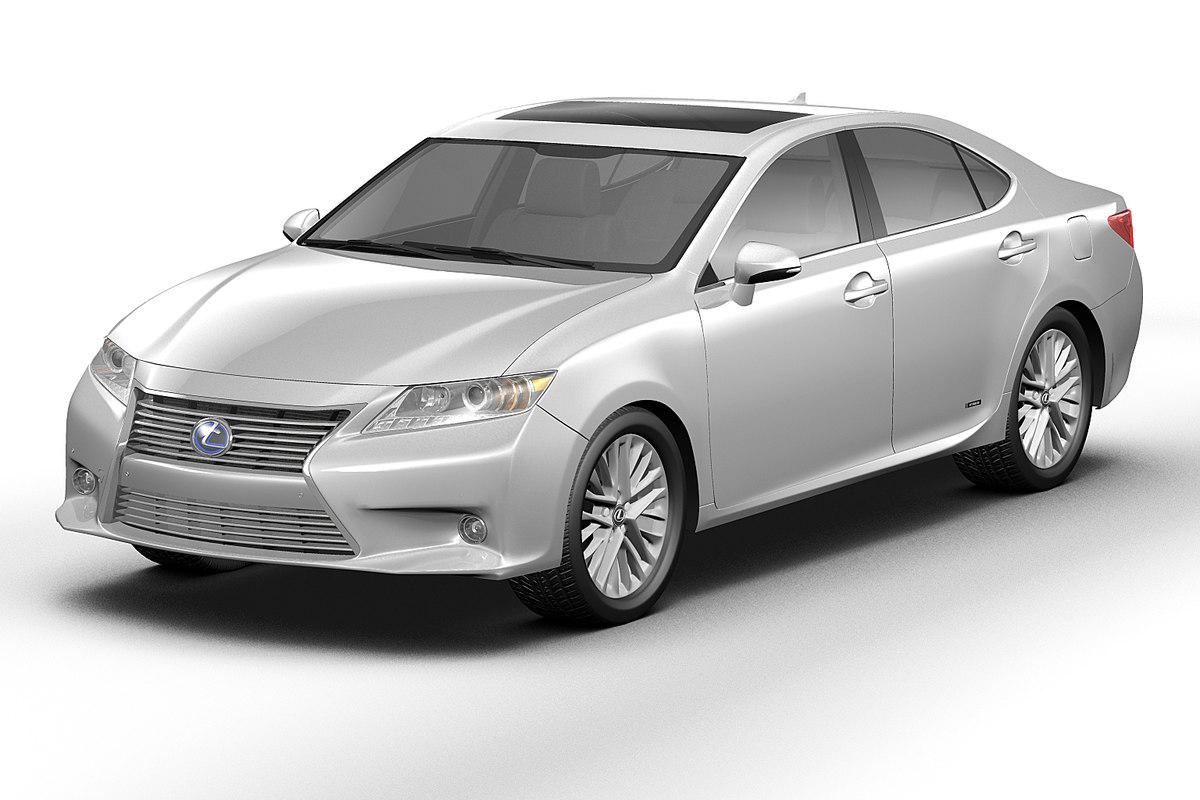 3d lexus es300h toyota model