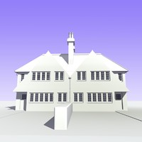 3d 2 storey british semi detached