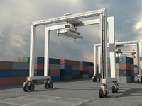 RTG Crane and Containers
