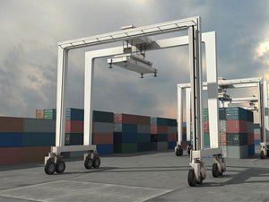 3d crane containers