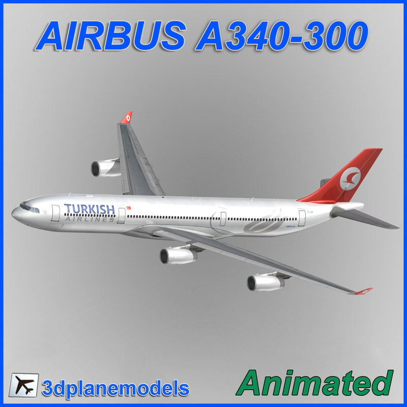 airbus a340-300 dxf