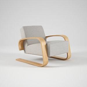 3d model of artek armchair 400