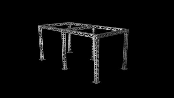 free box truss 3d model