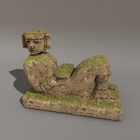 c4d mayan statue