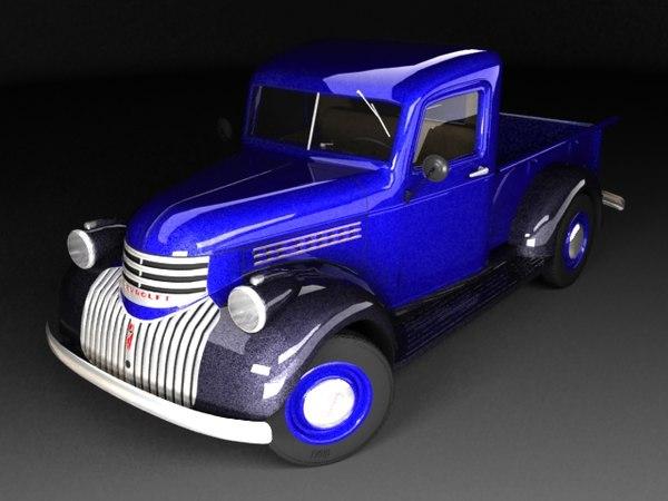 3d chevrolet pickup